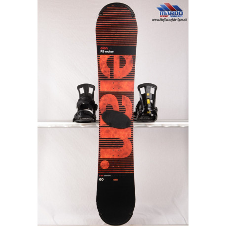 snowboard ELAN RS ROCKER 2017 red, woodcore, carbon, handmade, ROCKER ( ako NOVÝ )