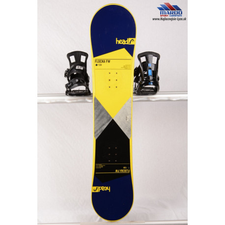 detský/juniorský snowboard HEAD FLOCKA FW 4D 2018, NAVY/yellow, woodcore, framewall, ROCKER