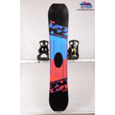 snowboard K2 CMPNY black/blue, woodcore, sidewall, FLAT/rocker ( TOP stav )