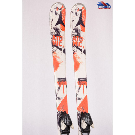 lyže ATOMIC ETL, piste rocker, handmade, red/white + Atomic EZYtrak 10