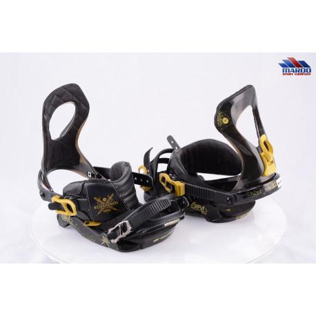 snowboardové viazanie ROSSIGNOL COBRA V1 2017 black/gold, 8 angle RAMP; size M/L