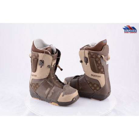 snowboardové topánky BURTON MENS MOTO IMPRINT1, BROWN, control lacing, LOWER ZONE ( TOP stav )