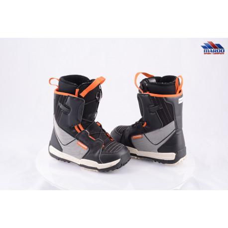 detské snowboardové topánky SALOMON TALAPUS JUNIOR, grey/orange ( ako NOVÉ )