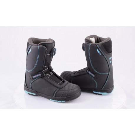 detské snowboardové topánky HEAD 400 Jr. BOA system BLACK/blue, 2018 ( NOVÉ )