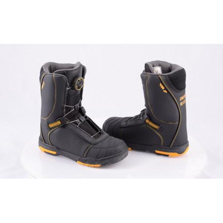 detské snowboardové topánky HEAD 400 Jr. BOA system BLACK/yellow, 2018 ( NOVÉ )