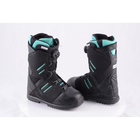snowboardové topánky FLOW DEELITE BOA COILER, Black/green ( TOP stav )