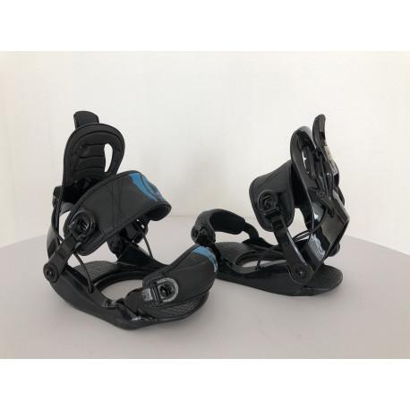 snowboardové viazanie FIREFLY FT FASTEC, BLACK/blue ( NOVÉ )