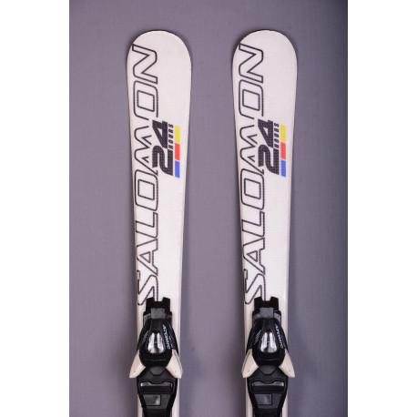 children's/junior skis SALOMON 24hrs RACE, WHITE + Salomon TZ 5 ( TOP condition )