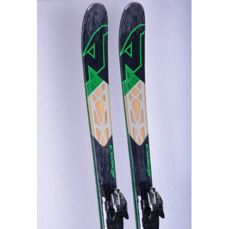 lyže NORDICA NRGY 80, Woodcore, titanium, metal lamin. dark green + Nordica ADV 10 ( TOP stav )