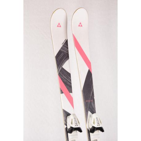 dámske lyže FISCHER KOA white/pink, ULTRA light, CARBON tech, SIDEWALL + Fischer W9