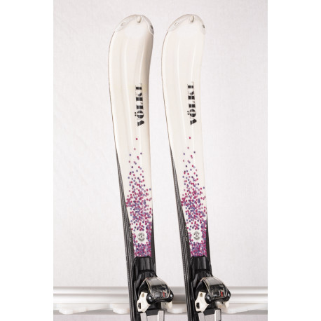 women's skis VOLKL ESSENZA ALESSIA, FULL sensor WOODCORE, TIP rocker, PROGRESSIVE tech + Marker FDT 10