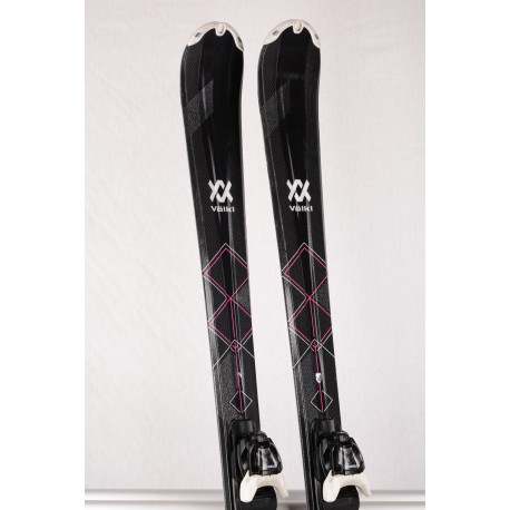 women's skis VOLKL FLAIR 73 ELITE, TIP rocker, cyklam. + Marker Compact lady 9 ( TOP condition )