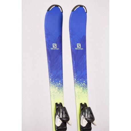 detské/juniorské lyže SALOMON QST MAX jr., BLUE/yellow + Atomic EZYtrak 5 ( TOP stav )
