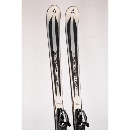 skis FISCHER C-line EMPEROR, carbon, woodcore, titan, Kick down tech. + Fischer CL 13 ( en PARFAIT état )
