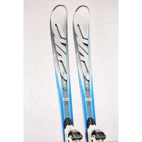 skidor K2 KONIC RX, white/blue, ALL TERRAIN rocker, Woodcore + Marker M310 ( TOP-tillstånd )