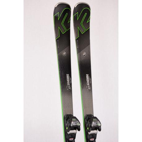 skidor K2 TURBO CHARGER, FULL ROX technology, Metal laminate, Speed rocker + Marker MXC TCX 12.0 ( TOP-tillstånd )