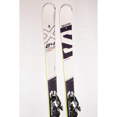 skis SALOMON 24hrs MAX Ti2, woodcore, titan + Salomon XT 10