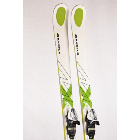 lyže KASTLE MX 83, woodcore, titan ULTRA light, WHITE/green + Kastle K12 Cti