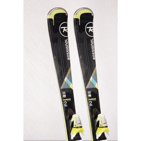 dames ski's ROSSIGNOL FAMOUS 2 Xpress, Black/green, rocker + Look Xpress 10 ( TOP staat )