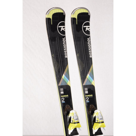 women's skis ROSSIGNOL FAMOUS 2 Xpress 2018, Black/green, rocker + Look Xpress 10 ( TOP condition )