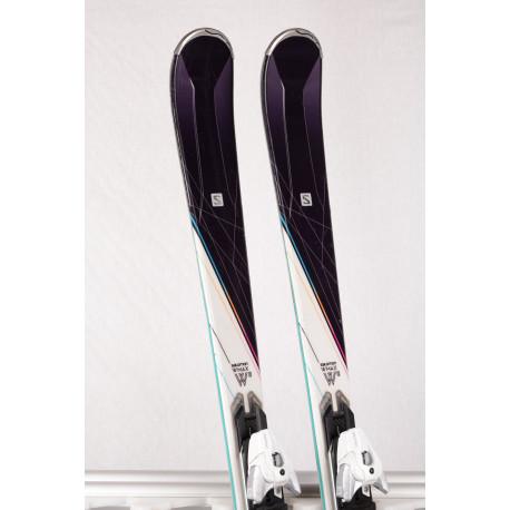 dam skidor SALOMON W-MAX W10, Light WOODCORE, TITAN + Salomon XT 10 ( TOP-tillstånd )