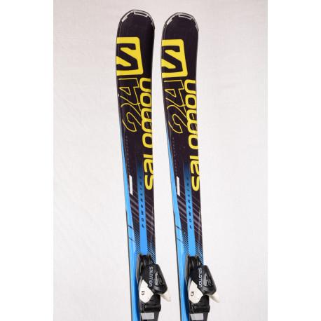 skis SALOMON 24hrs PWR blue, WOODCORE, TITANIUM, POWERLINE + Salomon L10