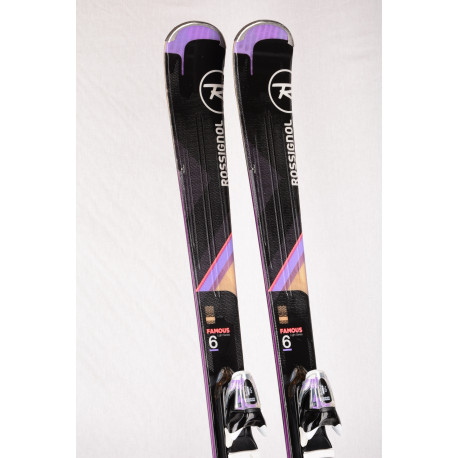 dames ski's ROSSIGNOL FAMOUS 6 light series, XPRESS + Look Xpress 11 ( TOP staat )