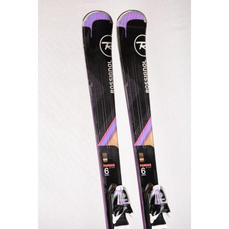 naisten laskettelusukset ROSSIGNOL FAMOUS 6 light series, XPRESS + Look Xpress 11 ( TÄYDELLINEN kunto )