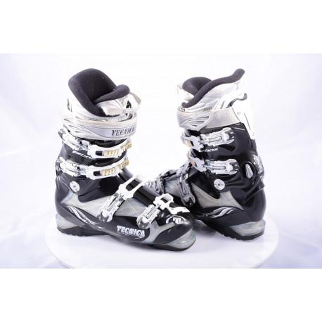 dámske lyžiarky TECNICA PHNX 8, 4 kovové klipsne, CARBON steel, DELTA switch, micro, macro, ULTRA FIT, BLACK/silver ( TOP stav )
