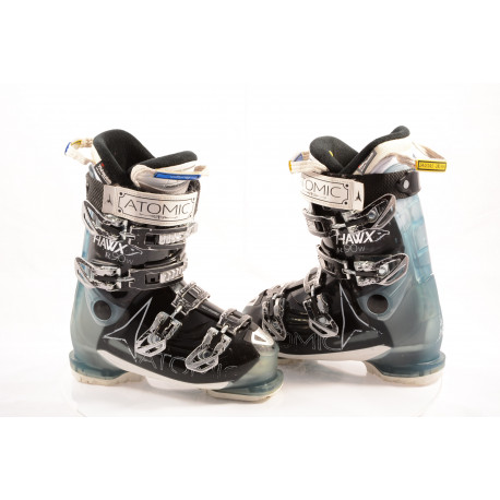 women's ski boots ATOMIC HAWX R90 W, ATOMIC silver T1, 3M THINSULATE, MEMORY fit, BLACK/blue ( TOP condition )