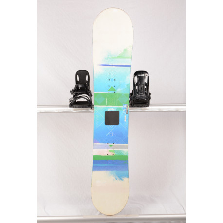 snowboard SALOMON LOTUS, Woodcore, FLAT/rocker, white/blue