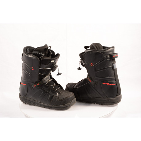 snowboardové topánky NORTHWAVE HOVER SPIN, BLACK/red, BOA technology ( ako NOVÉ )
