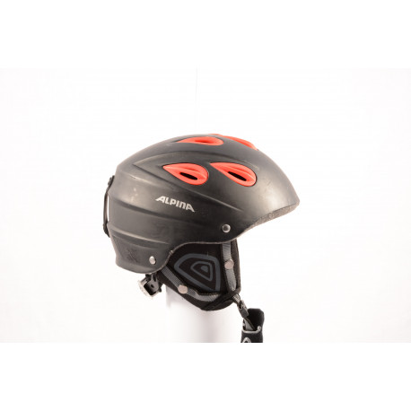lyžiarska/snowboardová helma ALPINA JUNTA black/red, nastaviteľná ( TOP stav )