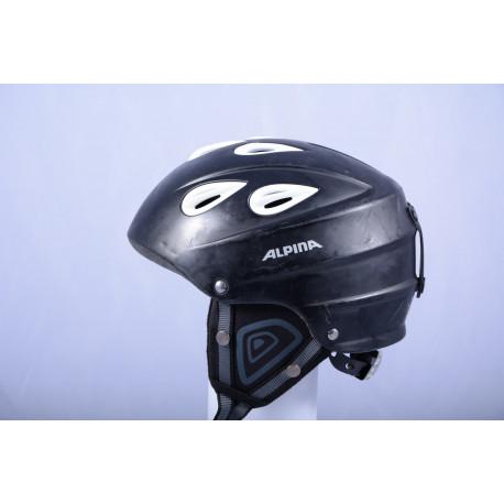 lyžiarska/snowboardová helma ALPINA JUNTA black/white, einstellbar ( TOP STAV )