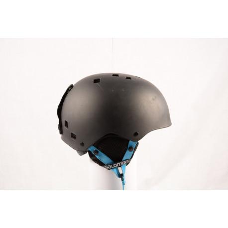 lyžiarska/snowboardová helma SALOMON JIB 2018 Black/blue, nastaviteľná ( TOP stav )
