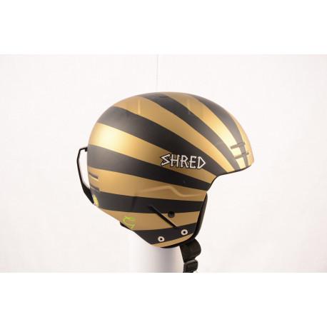 lyžiarska/snowboardová helma SHRED BASHER NOSHOCK helmet 2018, Black/gold, FIS norm ( NOVÁ )