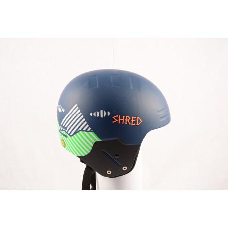 lyžiarska/snowboardová helma SHRED BASHER NOSHOCK 2018, Blue/green, FIS norm ( NOVÁ )