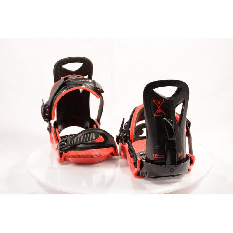 snowboardové viazanie BURTON PROGRESSION black/red, size M, L ( TOP stav )