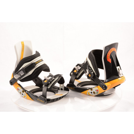 new snowboard binding ATOMIC REVIVAL steel, BLACK/yellow, size S ( NEW )