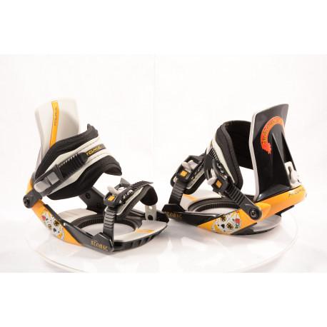 snowboardové viazanie ATOMIC REVIVAL steel, BLACK/yellow, size S ( NOVÉ )