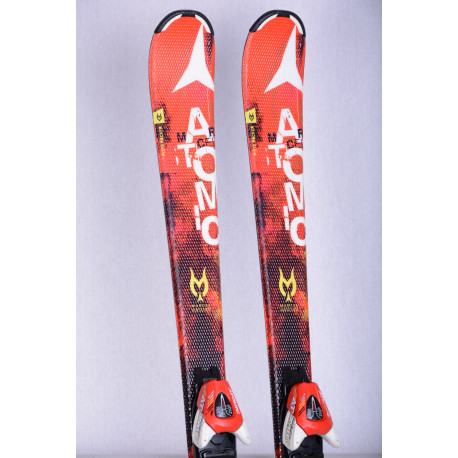 detské/juniorské lyže ATOMIC REDSTER Jr. MARCEL HIRSCHER, BEND-X, handmade, RED + Atomic XTE 7