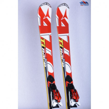 lyže ATOMIC RACE SL Ti RED/white, woodcore, titanium, sidewall, handmade + Atomic XTO 12