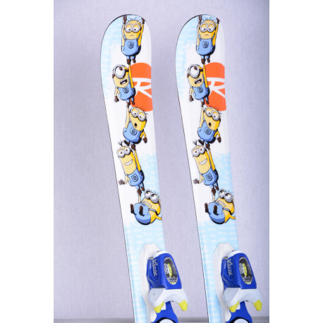 children's/junior skis ROSSIGNOL DESPICABLE ME, Minion + Rossignol KIDX 4.5 ( TOP condition )