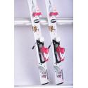 children's/junior skis ROSSIGNOL PRINCESS STAR white/pink + Rossignol KIDX 2.5 white ( TOP condition )