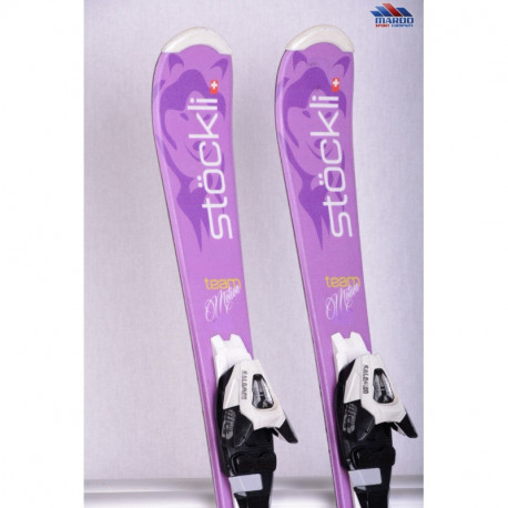 children's/junior skis STOCKLI TEAM MOTION violet + Salomon CS 4.5 ( TOP condition )