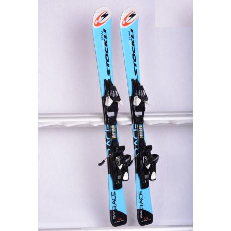 children's/junior skis STOCKLI TEAM RACE blue + Atomic EZYTRAK 5 ( like new )