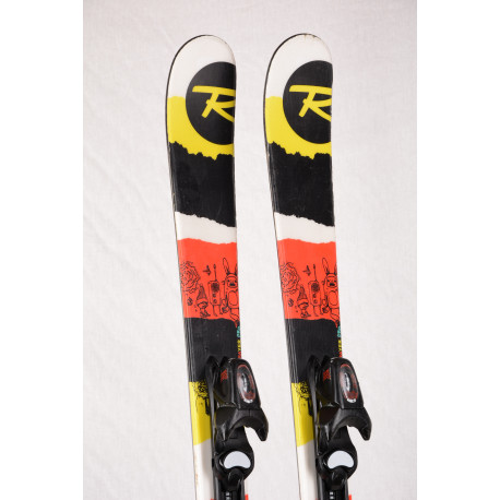 children's/junior skis ROSSIGNOL SPRAYER PRO RED/black, FREESTYLE, TWINTIP + Rossignol Xelium 4.5