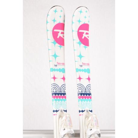 children's/junior skis ROSSIGNOL TERRAIN GIRL, LIGHT woodcore + Rossignol Xpress 7 ( TOP condition )