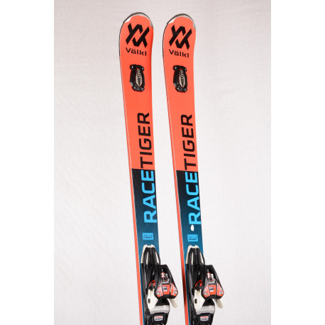 skidor VOLKL RACETIGER GS 18 UVO, speedwall, woodcore, TIP rocker, titanium + Marker XCELL Motion 12 ( TOP-tillstånd )