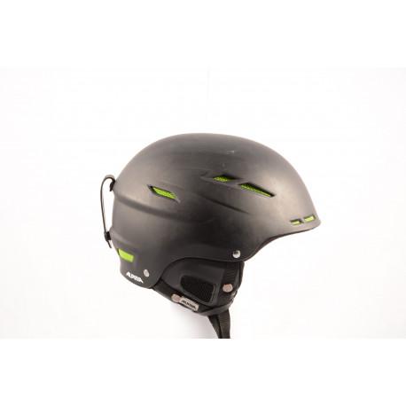 lyžiarska/snowboardová helma ALPINA BIOM 2018, BLACK/green, einstellbar